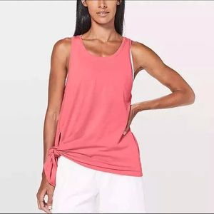 Lululemon To The Point Tank Coral Pink Athletic